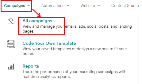 Select All Campaigns