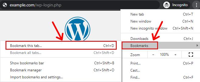 Adding Bookmark on Chrome