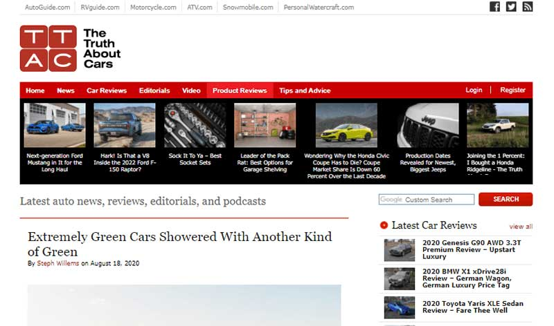 The Truth About Cars a Popular types of Blog
