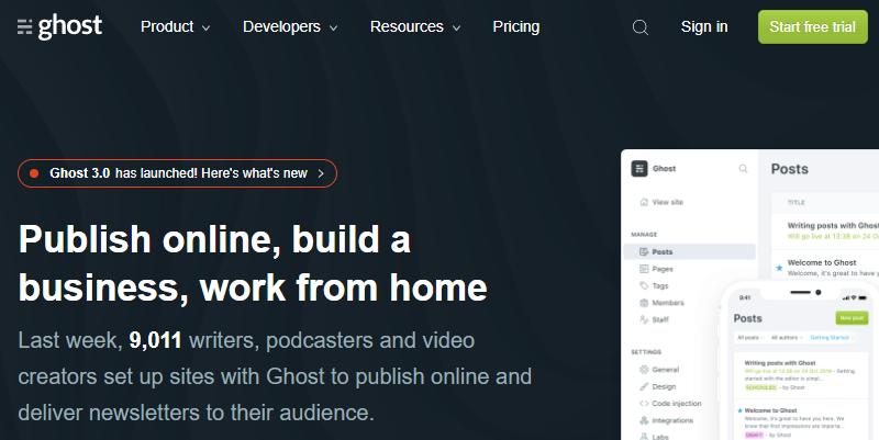 Ghost a Blogging Platform