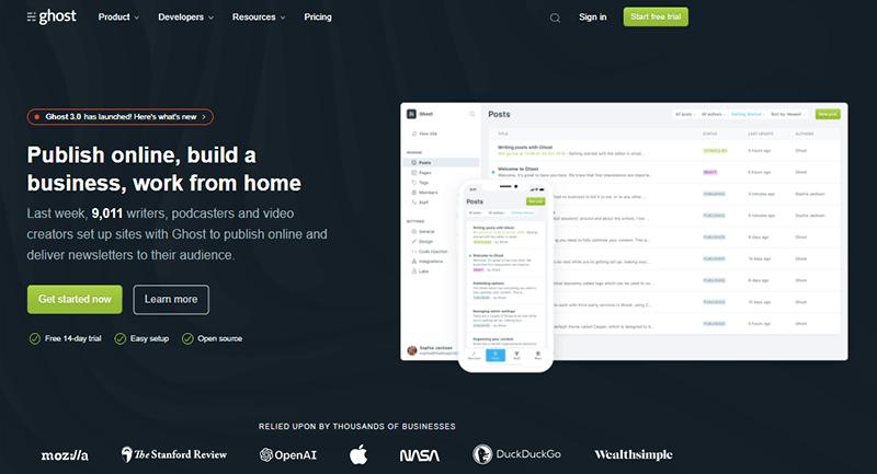 Ghost a Blogging WordPress Alternative