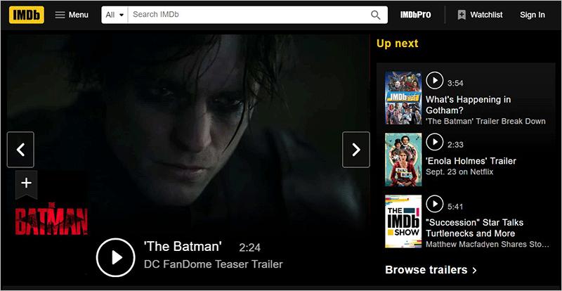 IMDB Entertainment Website
