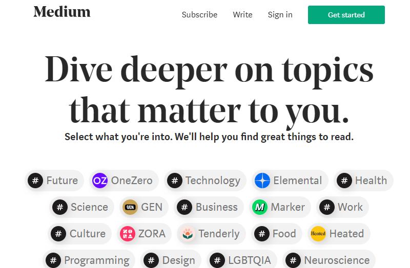 Medium a Blogging Platform