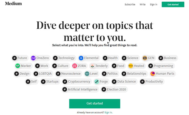 Medium a Blogging WordPress Alternative
