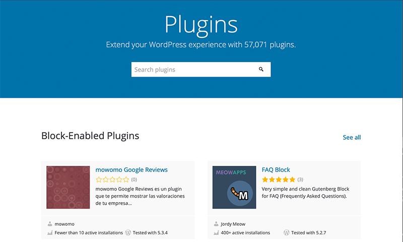 WordPress Plugins Directory