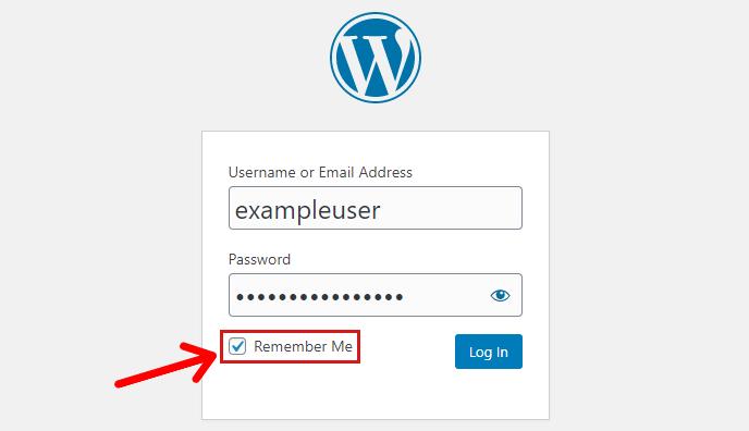 Remember Me Checkbox On WordPress Login Page