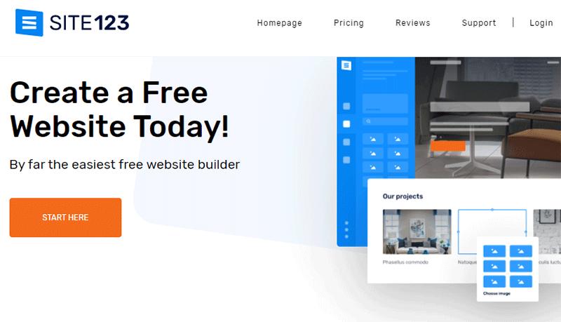 Site123 a Blogging Platform
