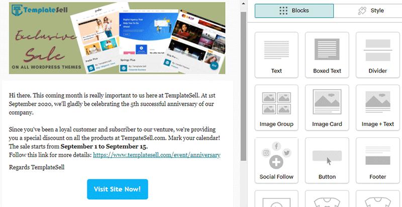 Email Design in Mailchimp