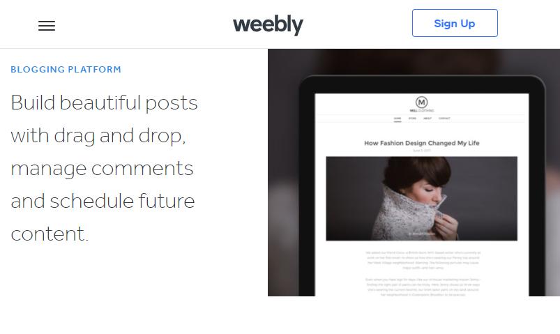 Weebly a Blogging Platform