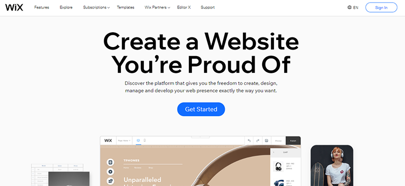 Wix a Popular WordPress alternative