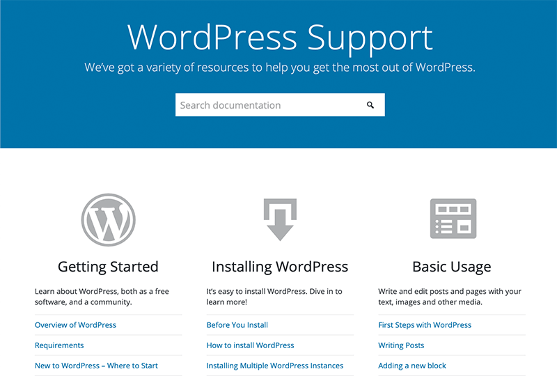 Official WordPress Support
