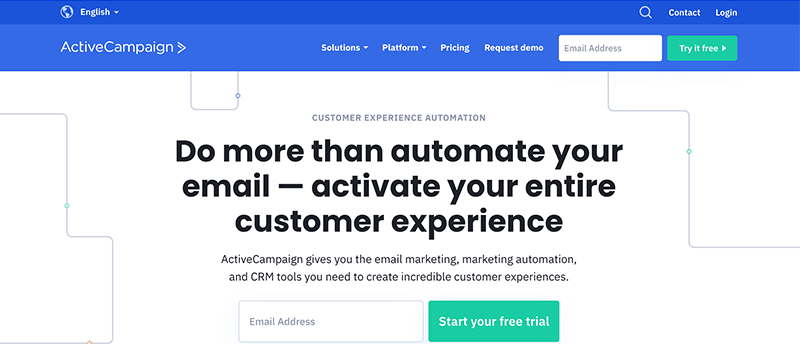 Active Campaign Login Page