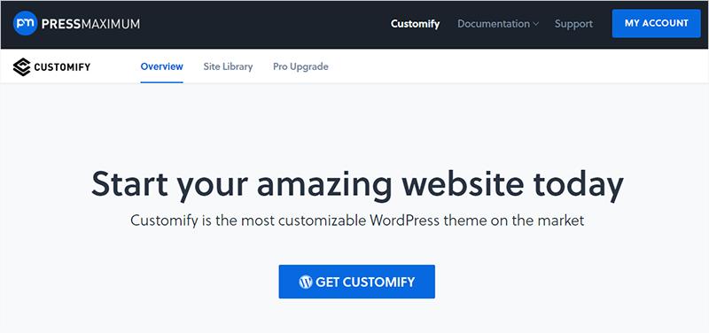 Customify Most Popular WordPress Theme