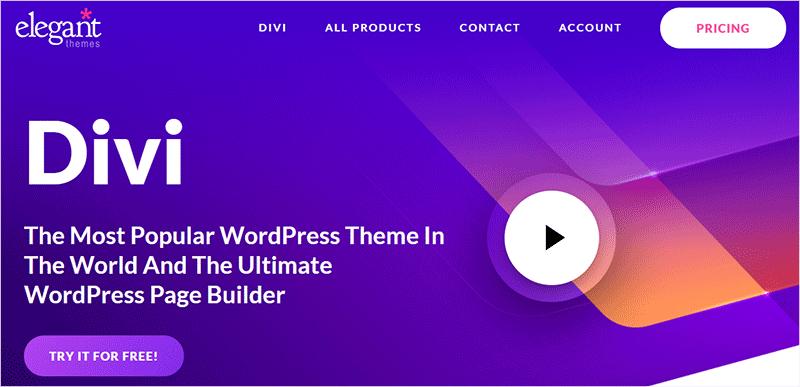 Divi Most Popular WordPress Theme