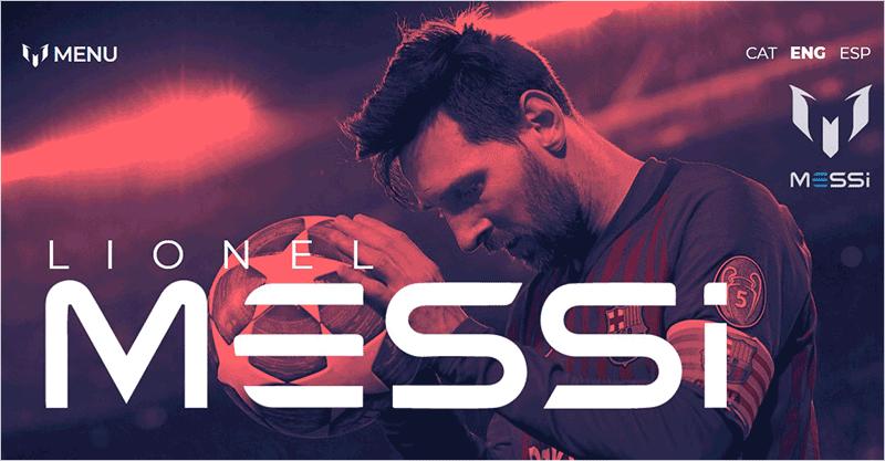 Messi Portfolio Website