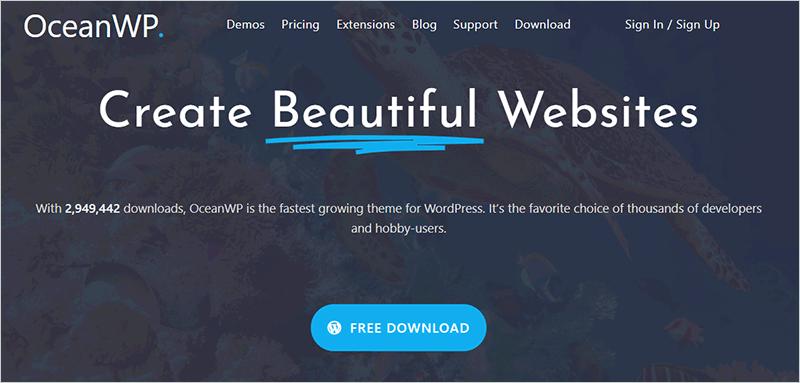 OceanWP Free Popular WordPress Theme