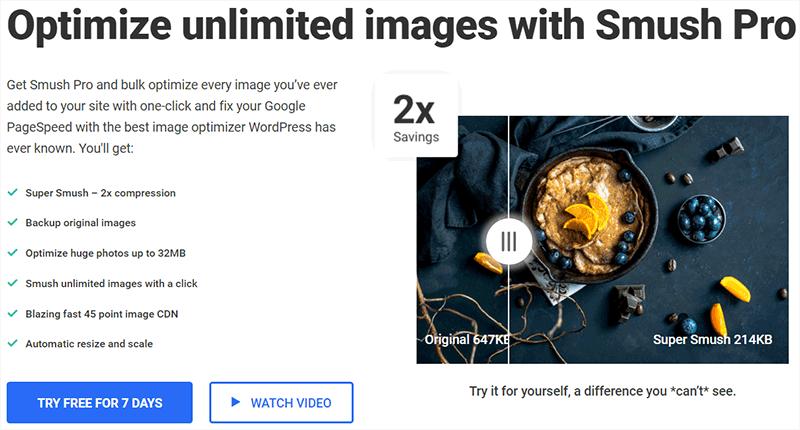 Smush Pro Popular WordPress Plugins