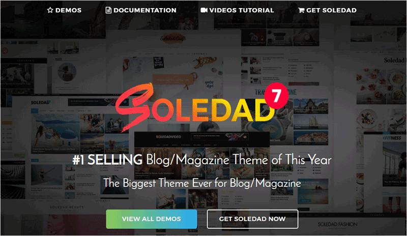 Soledad Most Popular WordPress Theme