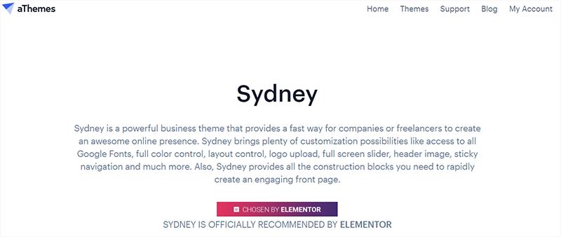 Sydney Popular WordPress Theme