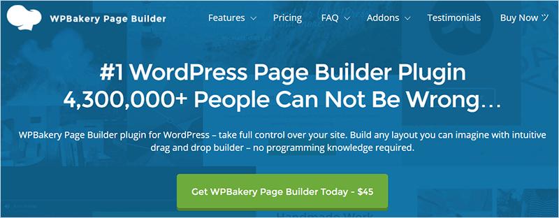 WP Bakery Most Popular WordPress Plugins