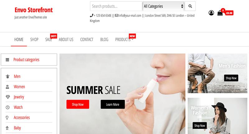 Envo Storefront  WooCommerce Themes