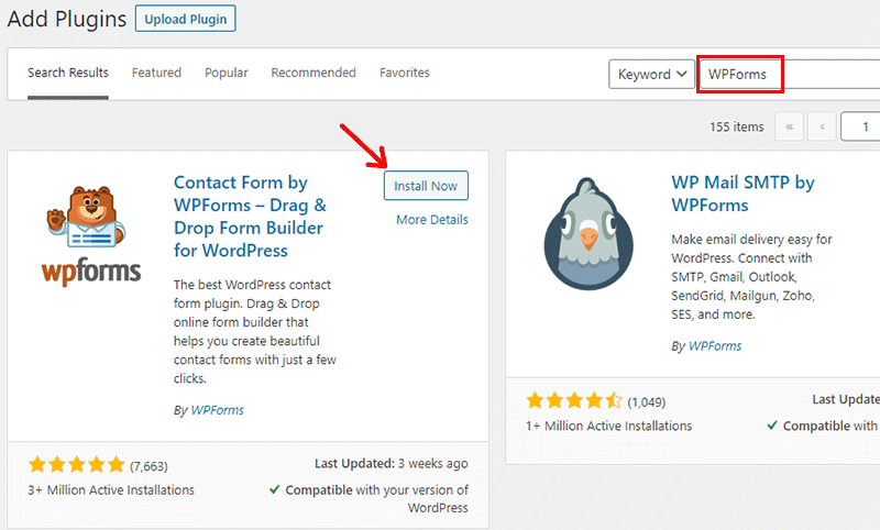 Install WPForms WordPress Plugin