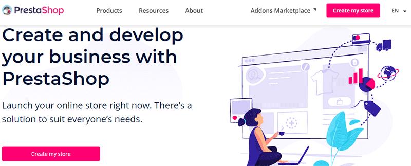 PrestaShop Online Store Building Platform