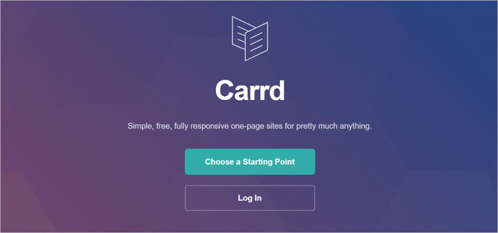 Carrd Website Building Platform
