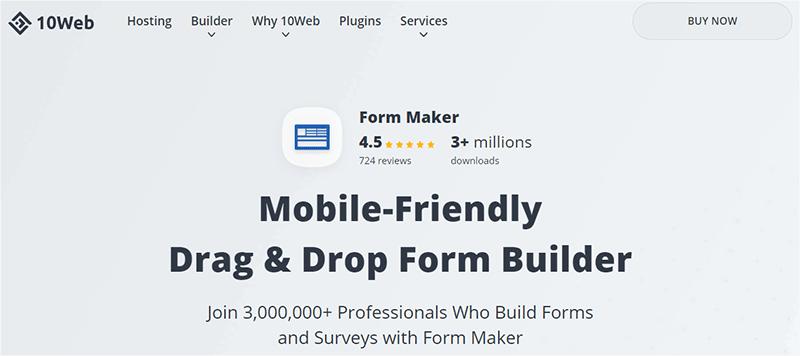 Form Maker WordPress Plugin by 10Web