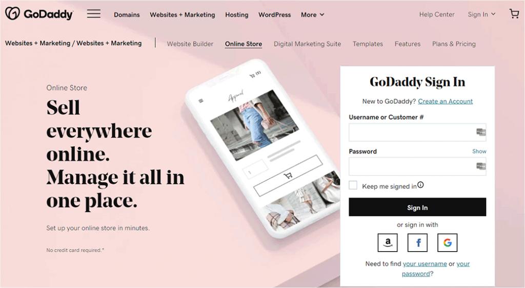 GoDaddy eCommerce Platforms