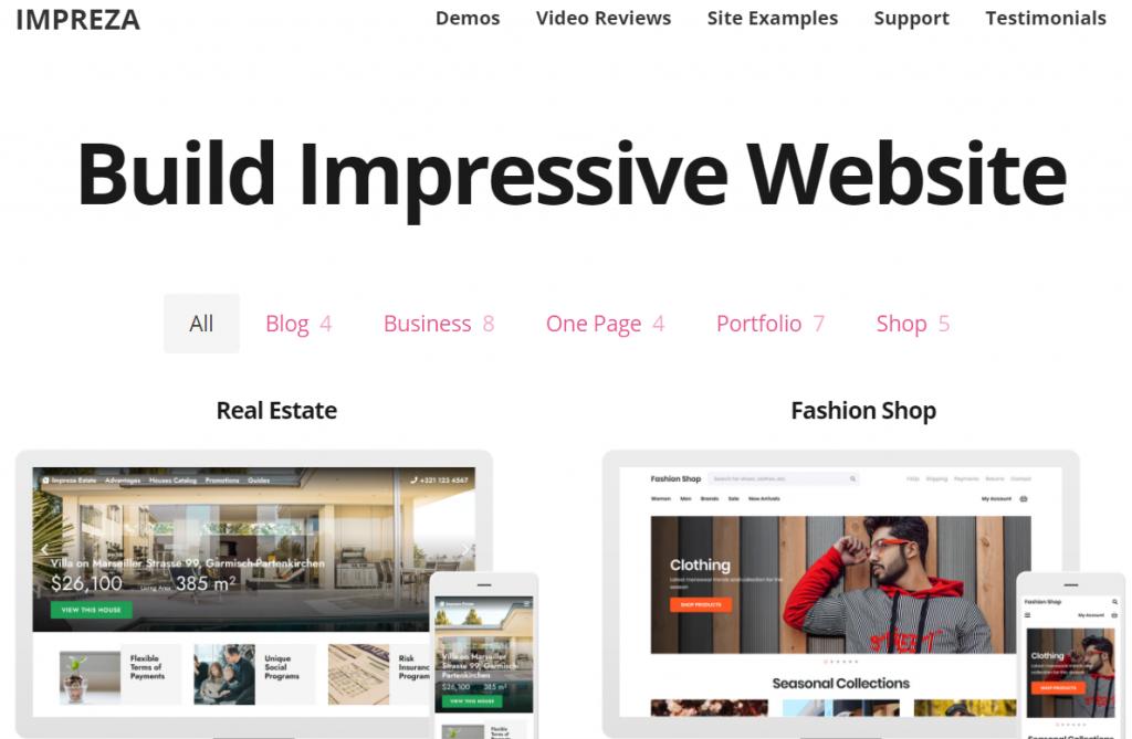 Impreza Most Popular WordPress Theme