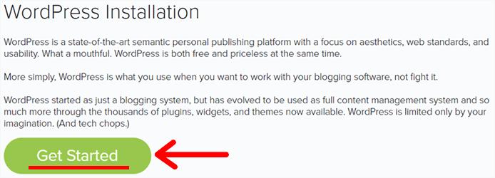 WordPress Installation Get Started