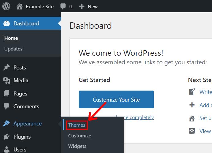 WordPress Dashboard Themes Page
