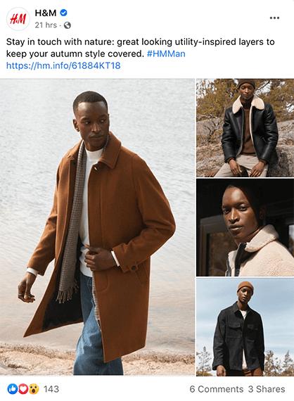 H&M's Facebook Post