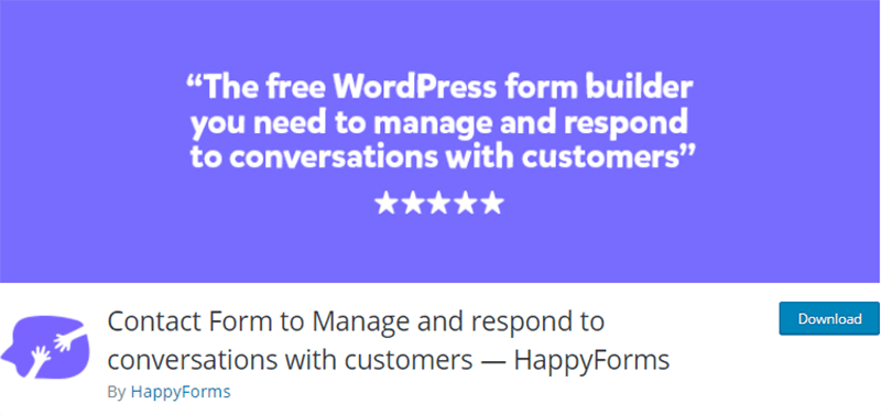 Happy Forms Contact Form Plugin