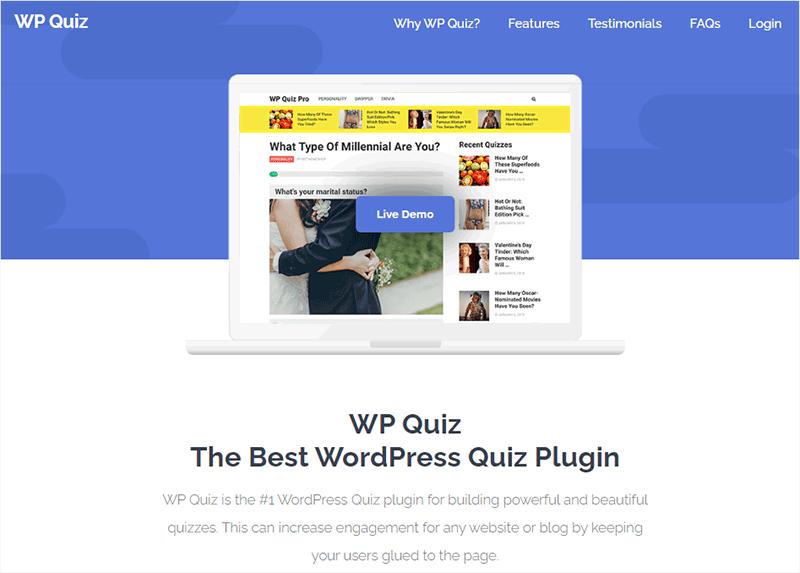 WP Quiz WordPress Plugin