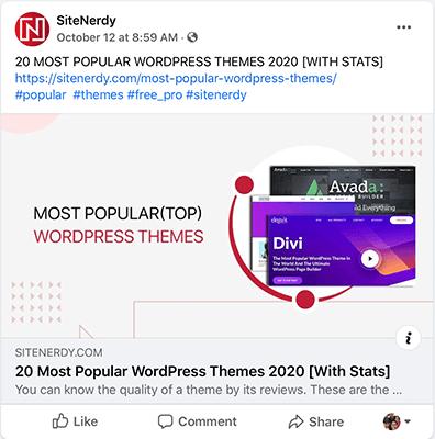 SiteNerdy Facebook Post