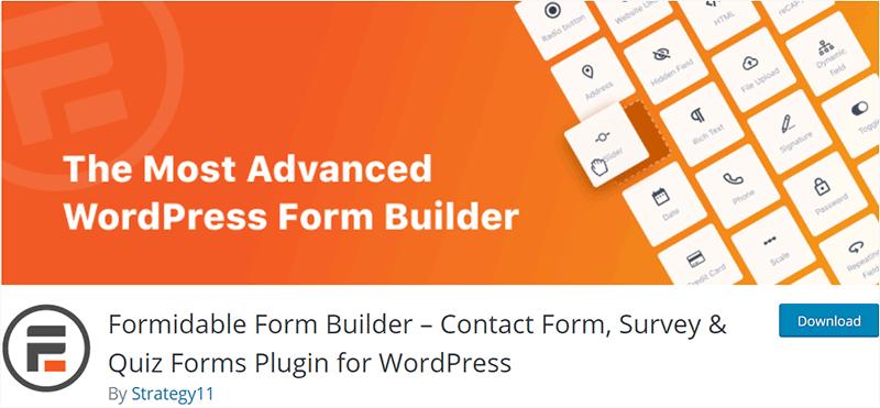 Quiz - Formidable Form Builder Plugins
