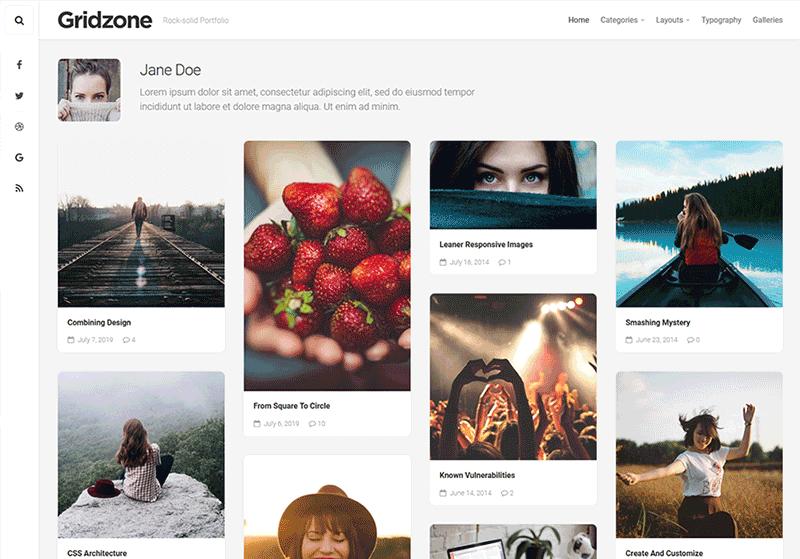 Gridzone WordPress Theme