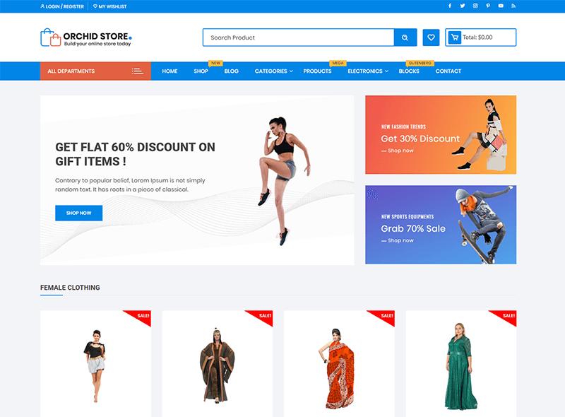 Orchid Store WordPress Theme