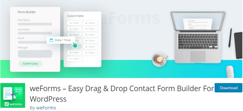 weForms Contact Form Plugin