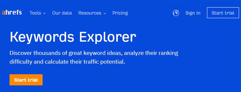 Ahrefs' Keyword Explorer