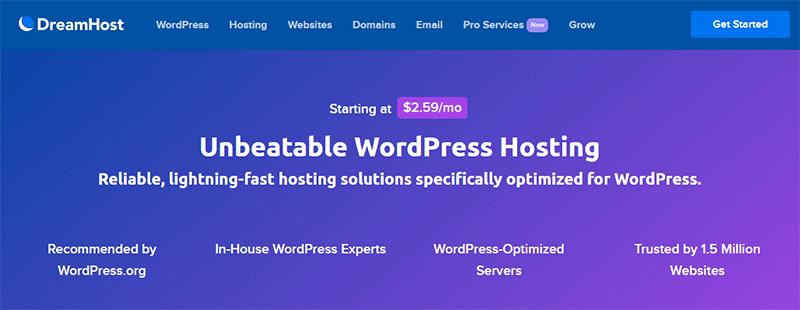WordPress Hosting By DreamHost