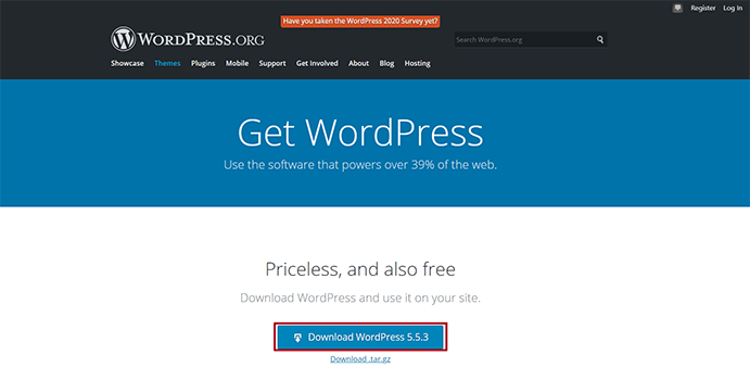 WordPress Official Download Page