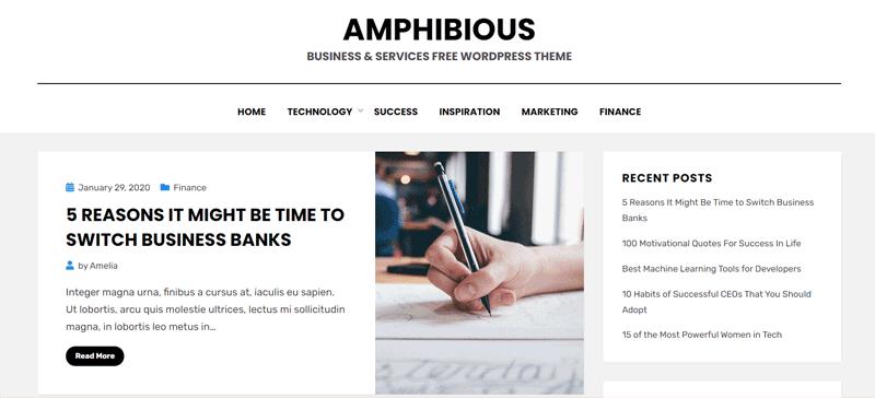 Amphibious Blog Theme