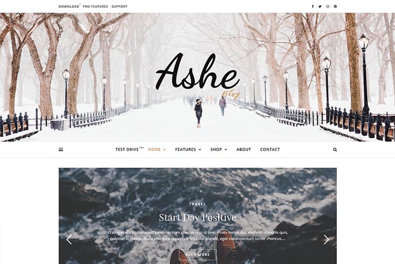 Ashe Blog Theme