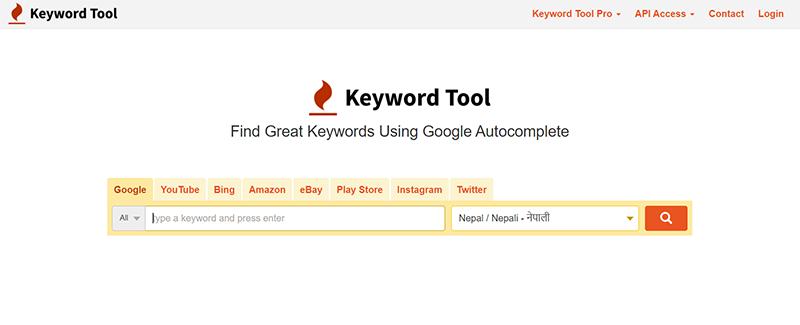 Keyword Tool Home Page