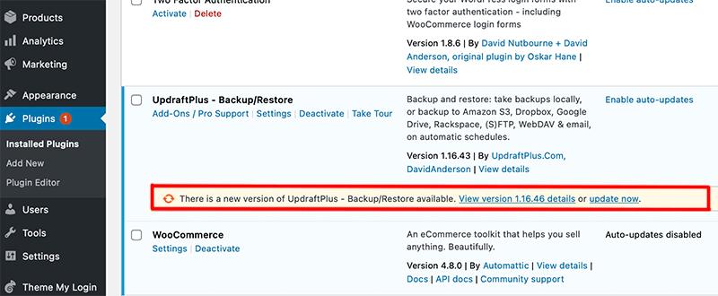 Update Plugin via Plugin Page