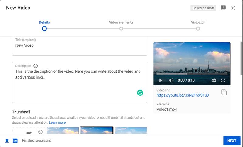 Video Title And Description