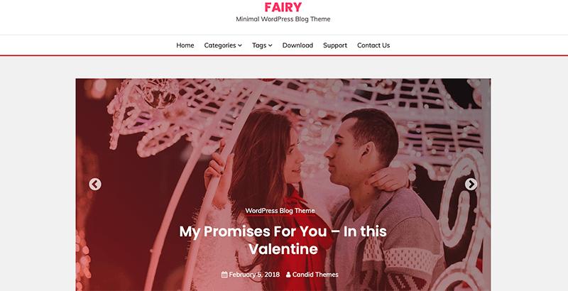 Fairy - Best Free Minimalist WordPress Themes